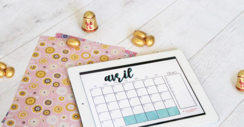 Mon monthly log d'avril